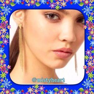 Jewelry - Gold Chain Tassel Earrings
